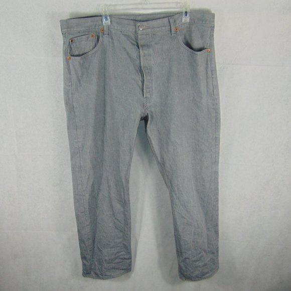 Levi's 501 Grey Denim Button Fly Jeans Men's sz 44